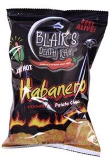 Picture of Blair's Death Rain Habanero Cauldron Chips 3 x 2oz