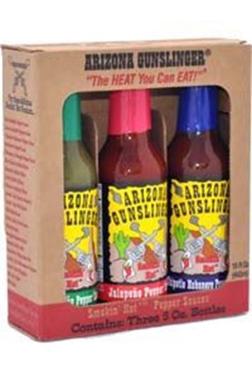 Picture of Arizona Gunslinger Smokin' Hot Pepper Sauce 3 Pack