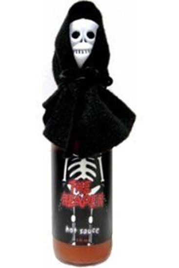 Picture of The Reaper Hot Sauce With Skull And Cape