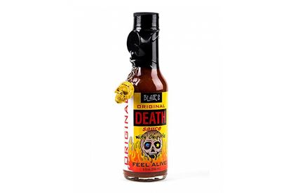 Picture of Blair's Original Death Sauce With Chipotle And Skull Key Chain