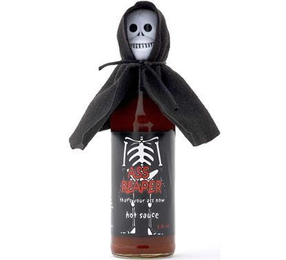 Picture of Ass Reaper Hot Sauce With Skull And Cape