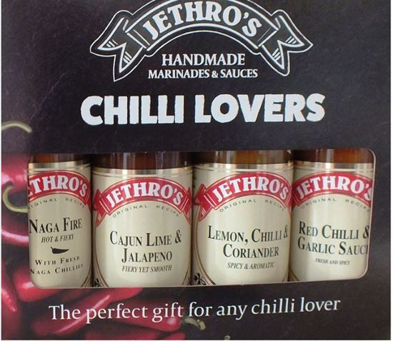 """Picture of Jethro's """"Chilli Lovers"""" chilli sauce gift box set"""