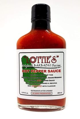 Picture of Lottie's Traditional Barbados Recipe Hot Pepper Sauce - Red